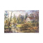 Beautiful print of a watercolor by Polish artist Wanda Maj-Adamczyk. The view of the house were Frederic Chopin was born from the back side.  Includes an envelope for mailing.  Packaged in clear resealable polypropylene.