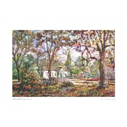 Beautiful print of a watercolor by Polish artist Wanda Maj-Adamczyk. The view of the house were Frederic Chopin was born from the front.  Includes an envelope for mailing.  Packaged in clear resealable polypropylene.