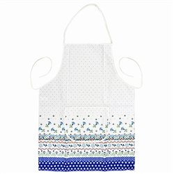 "Attractive Polish Stoneware Apron. .  This is a new pattern designed to highlight the traditional Boleslawiec patterns. 9"" x 5.5"" (23cm x 14cm) pocket."
