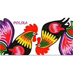 A Polish paper cut from the Lowicz region.  Roosters are a frequent theme in Polish folk art and represent both fertility and village life.