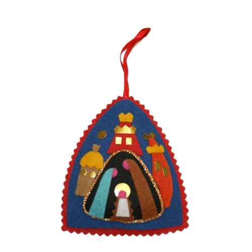 hand made in krakow by a real polish babcia made of felt and foil - Felt Christmas Ornaments