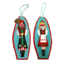 Hand made in Krakow by a real Polish babcia!  Made of felt and foil and all made by hand so no two are exactly alike. Our special keepsakes are sure to look splendorous nested in your favorite collector's tree for many seasons to come!