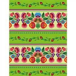 "Delightful Polish folk themed paper gift paper - the perfect way to present those special gifts. Glossy color paper. Size 39.3"" x 27.5"" - 100cm x 70cm folded. Made in Poland."