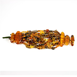 Multi-colored Amber toggle Bracelet