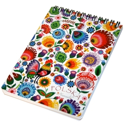 This beautiful notebook has 70 sheets. The front side is lined and the back side of each page is blank which is perfect for you to add pictures, scrapbook cut outs etc.  Ideal for use as a journal, school project display or general notebook.