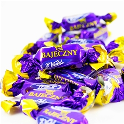 "Popular Polish candy.  Bajeczny (""Fabulous in Polish) certainly lives up to its Polish name.  A mixture of peanuts, wafer crumbles and cocoa surrounded by a dark chocolate covering.  Yummy!"