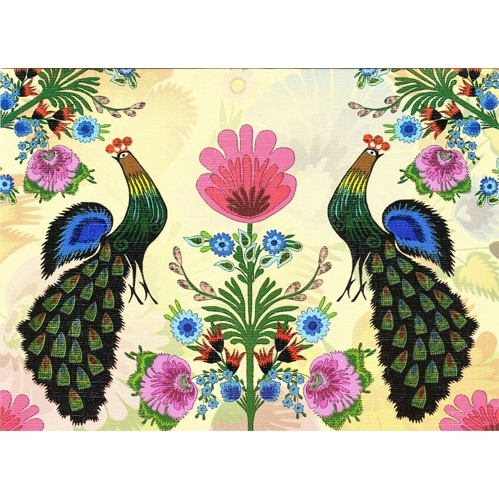 polish art center peacock summer note card and envelope