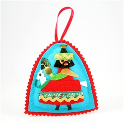 Hand made in Krakow by a real Polish babcia!  Made of felt and foil. Our special keepsake is sure to look splendorous nested in your favorite collector's tree for many seasons to come!