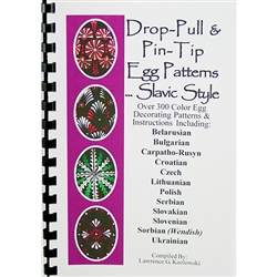 This color illustrated book includes over 300 color egg decorating patterns and instructions including  Belarusian, Bulgarian, Carpatho-Rusyn, Croation, Czech, Polish, Serbianian, Slovakian, Slovenian, Sorbian (Wendish) and Ukrainian.