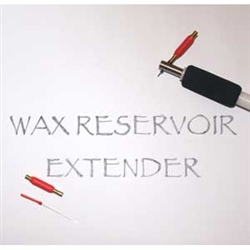 The Wax Reservoir Extender for the Electric Kistka -- Hot Wax Pen -- extends the wax reservoir approximately 5 times ... allowing a considerably longer writing time between wax refills. The Wax Reservoir Extender is ideal for use in wax resist arts