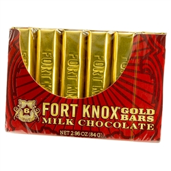 Box of 6 gold wrapped chocolate bars imported from Holland.  Cute conversation pieces and very tasty chocolate as well.