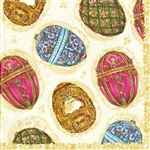 Faberge Assortment Napkins (package of 20).  Three ply napkins with water based paints used in the printing process.