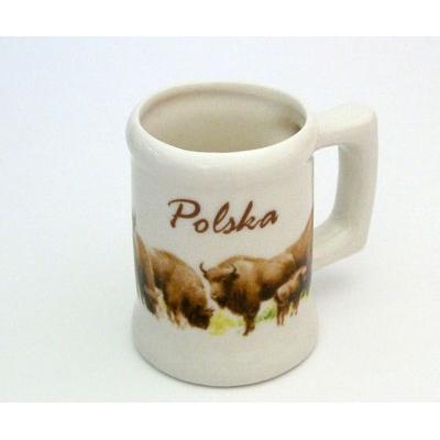 Polish Art Center Mini Porcelain Mug Polish Bison