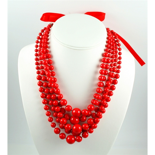or product graduated evine necklace beaded aquaprase gemporia