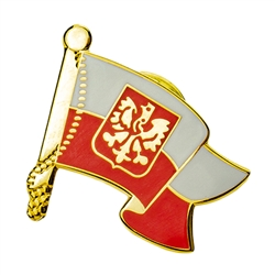 The Polish flag with the Eagle is flown above the Presidential palace, at all diplomatic missions and embassies, at ports of entry, and on all ships.  Wear it proudly.