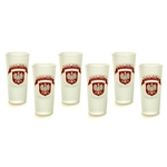 Boxed set of 6 frosted Polish shot glasses each featuring the Polish Eagle below the word Polska (Poland). Hand wash only. Made in Poland.