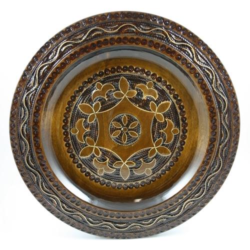 Alternative Views  sc 1 st  Polish Art Center & Polish Art Center - Polish Medium Wooden Floral Plate - 11\