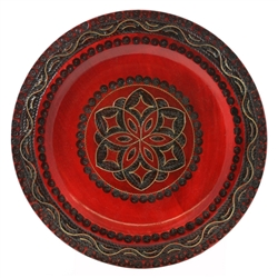 This beautiful plate is made of seasoned Linden wood, from the Tatra Mountain region of Poland. 