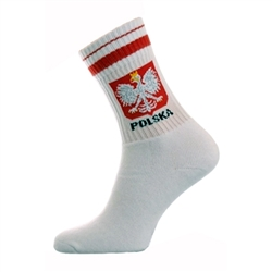 A unique item for sports fans - POLAND socks!