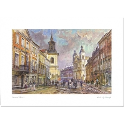 Beautiful print of a watercolor by Polish artist Wanda Maj-Adamczyk.  Suitable for framing.  Includes an envelope for mailing.  Packaged in clear resealable polypropylene.
