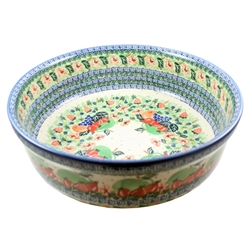 "Designed and signed by master artist Wirginia Cebrowska. The artist has been connected with the Artistic Handicraft Cooperative ""Artistic Ceramics and Pottery"" since 2001. Since 2010 she has been a pattern designer.  Unikat design U3014"