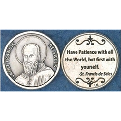 Saint Francis de Sales Pocket Token (Coin). Great for your pocket or coin purse.
