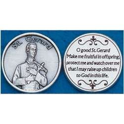 Saint Gerard Pocket Token (Coin). Great for your pocket or coin purse.