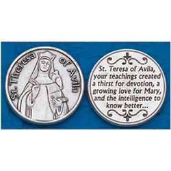 Saint Theresa of Avila Pocket Token (Coin). Great for your pocket or coin purse.