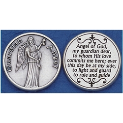 Guardian Angel Pocket Token (Coin). Great for your pocket or coin purse.