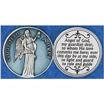 Guardian Angel Light Blue Enamel Pocket Token (Coin). Great for your pocket or coin purse.