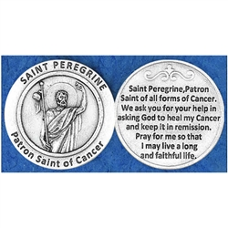 Saint Peregrine - Cancer Pocket Token (Coin). Great for your pocket or coin purse.
