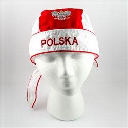 Designed to fit most people.  100% cotton with an embroidered Polish Eagle on the front and the words Polska on the front and back.
