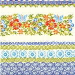 Polish Folk Art Luncheon Napkins (package of 20) - 'Blueberries and Butterflies'.  Three ply napkins with water based paints used in the printing process.