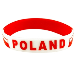 "Poland says it all. Medium size (8"" - 20cm) wrist band with a little stretch.