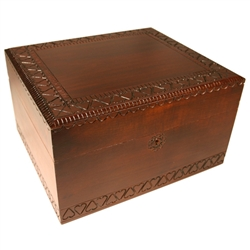 This is a simple yet gorgeous box! Handmade in Poland, this wooden box has heart-shaped carvings around the lid and base that make it a very elegant piece.  This is also the correct size for holding the ashes of a loved one.