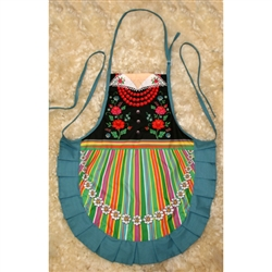 Delightful cooking apron with a Lowicz costume design, This apron makes a perfect gift for anyone looking for an upscale kitchen accessory or gift.  It's also a great low cost alternative when you need to wear a Polish costume.  Great way to display you h