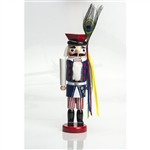 This traditional nutcracker is completely hand made and hand painted.  Made in Poland and painted in an authentic Krakow regional folk costume  Notice the attention to detail and fine workmanship.