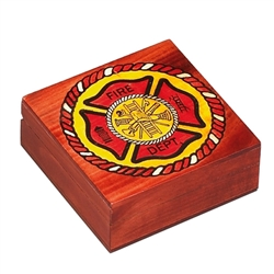 Hand carved, International Firefighter Maltese Cross design.