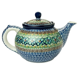 "Beautiful teapot with a 1.2 Liter (40oz) capacity (5 cups). Pattern designed by master artist Maria Iwicka.  The artist has been connected with the Artistic Handicraft Cooperative ""Artistic Ceramics and Pottery"" since 1981."