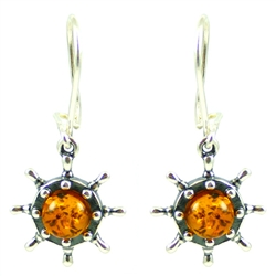 Nautical Honey Amber Earrings