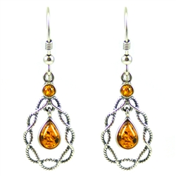 Honey Amber Dangle Earings