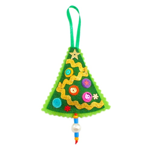 Polish Art Center - Polish Felt Christmas Ornament - Christmas Tree