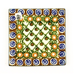 "Size is approximately 4"" x 4"" - 10.5cm x 10.5cm. Great for a wall tile accent piece.  Only one in stock."