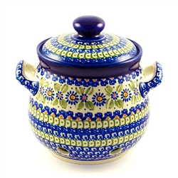 "Designed and signed by master artist Krystyna Deptula. The artist has been connected with the Artistic Handicraft Cooperative ""Artistic Ceramics and Pottery"" since 1991. Since 1997 she has been a pattern designer. Unikat pattern number U360."