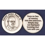 Saint John Paul II - Pocket Token (Coin) Note:  John Paul II is being Canonized as Saint John Paul II on April 27, 2014.