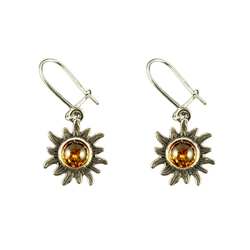 Honey amber set in Sterling Silver.  Stylish and unique.