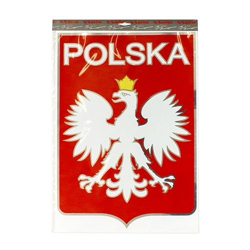 Display your polish heritage on your truck van rv wall or bulletin board