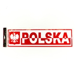 Display your Polish heritage indoor or outdoor. Nice size for a car, van, truck, bulletin board, wall or the inside of a window, wall   Comes with two suckers for window display.  Made from a thicker but flexible plastic material.  Waterproof.