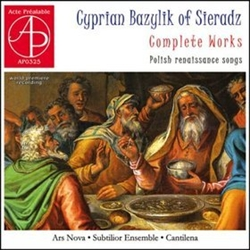Religious as well secular compositions (moralistic, royal, occasional, political, dancing, instrumental) of the 16th - 17th centuries. Nominated for the Fryderyk Award in 2008.