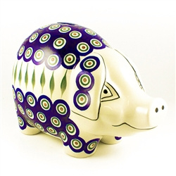 Collectors of Polish stoneware from Poland's premier company, Ceramika Artystyczna, will enjoy this unique item. Our Polish piggy bank has only one opening in the top.